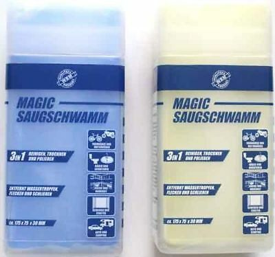 Lot of 2 Saugwunder Suction Sponge Block,windows cleaner,dust cleaning sponges