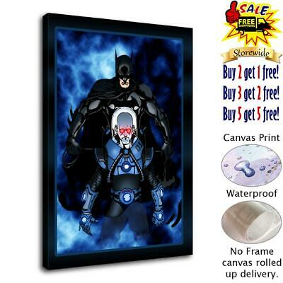 "12""x16"" batman vs mr freeze HD Canvas Print Painting Home Decor room Wall Art"