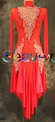 Women Ballroom Salsa Latin Rumba Samba Smooth Dance Dress for polarbearchick