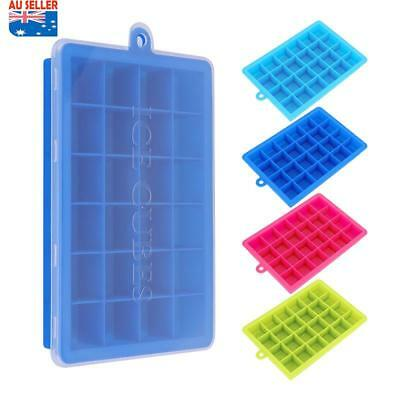 Silicone Ice Cube Tray Ices Jelly Maker Mold Trays with Lid for Whisky Cocktail*