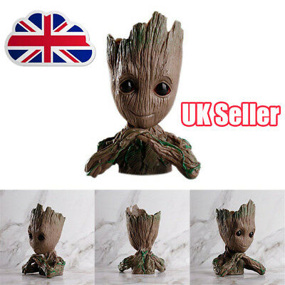 Guardians of The Galaxy Vol. 2 Baby Groot Action Figure Flowerpot Pen Pot Toy DS