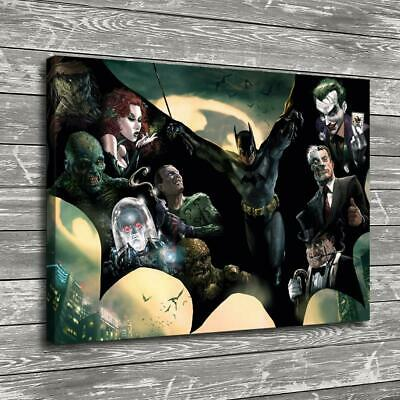 "12""x16"" Super hero batman posters HD Canvas print Home decor Room Wall Art Paint"