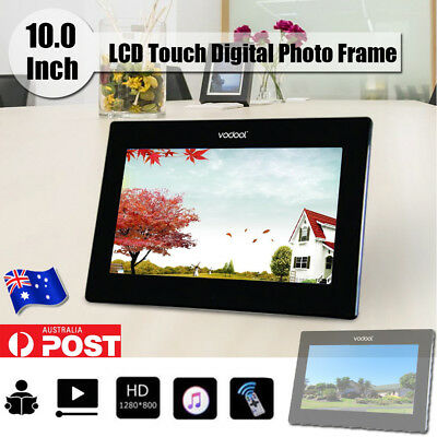 10'' HD LCD Touch Digital Photo Frame Motion Sensor Movie Player Remote Control