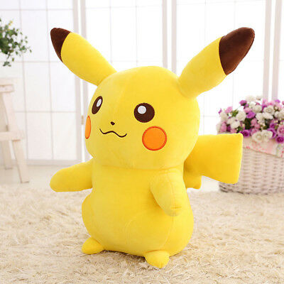 Cute Pikachu Figures Soft Stuffed Plush Doll Toys Gifts XMAS Children Kids 35cm