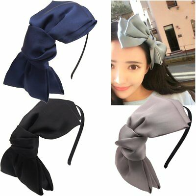 "3 Pack 8"" Big Bows Hairstyle Hair Hoop HeadBands Hair Band for Girls Women"