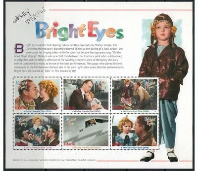 LIBERIA 2000 Shirley Temple (Bright Eyes) 6v MNH**