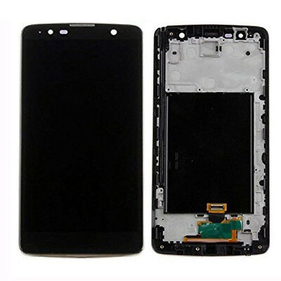 OEM LCD Screen and Digitizer Assembly with Frame for LG Stylus 2 Plus K530 Black