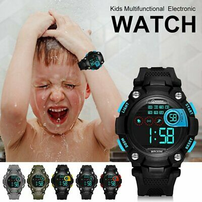 Electronic Outdoor Sports Waterproof Digital LED SOS Alarm for Kids Boys Gift