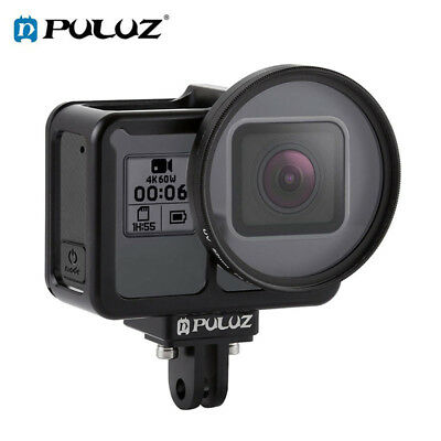 PULUZ Housing Shell CNC Aluminum Alloy Protective Cage +UV Lens for GoPro HERO7