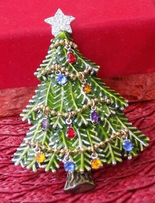 Avon 2008 5Th Annual Christmas Tree Christmas Brooch