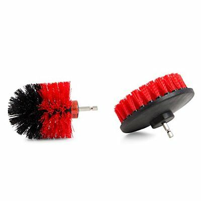 Bring It On Cleaner Drill Brush Set, Tile and Grout Cleaner Scrubber, Nyl... New