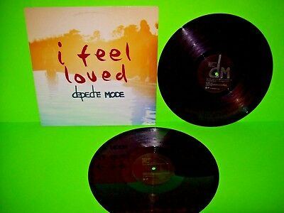 "Depeche Mode ‎I Feel Loved DOUBLE Vinyl 12"" EP Record Set PROMO Synth-Pop NM"
