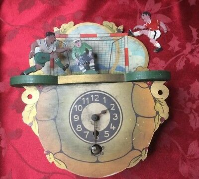 Very Rare Automata Cuckoo Clock With Footballers On Top For Restoration