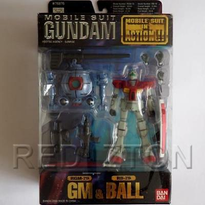 Bandai Gundam 0079 Mobile Suit In Action Figure MSIA GM & Ball - Free Shipping