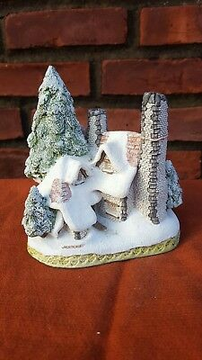 Hand Signed Snow Cottage By David Winter Dated 1984