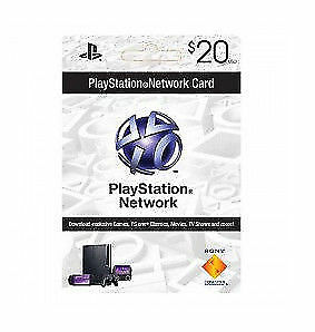 Sony PlayStation Network 20$ Card US