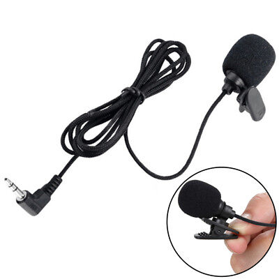 New 35mm STEREO JACK PLUG  CONDENSER MICROPHONE LAPEL COLLAR TIE CLIP ON MIC