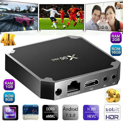 X96 Mini Smart TV Box Android S905W Quad Core WiFi 4K Set-top Box Media Palyer