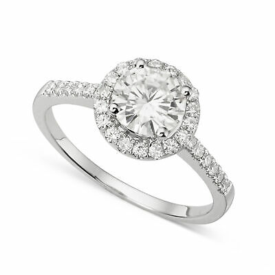 Moissanite by Charles & Colvard 6.5mm Round Engagement Ring, 1.30cttw DEW
