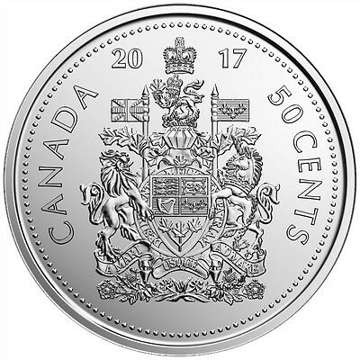 CANADA 2017 New 50 cents Coat of Arms of CANADA (BU directly from mint roll)