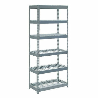 "Boltless Extra Heavy Duty Shelving 36""W x 18""D x 84""H, 6 Shelves, Wire Deck, Lot"