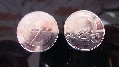 CHEAPEST ON EBAY - 1 x Q & 1 x Z - 10p COINS -  A-Z COLLECTORS BRITISH COIN HUNT