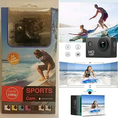 Action Camera, 12MP 1080P 2 Inch LCD Screen,Waterproof Sports Cam 120 Degree|NEW