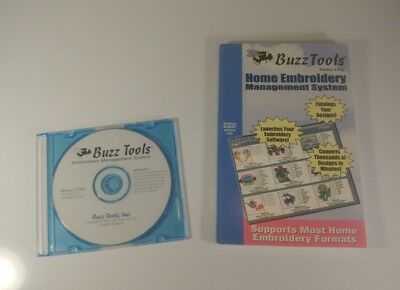 Buzz Tools Home Embroidery Management System Ver 3 Plus With CD FREE SHIPPING!!!