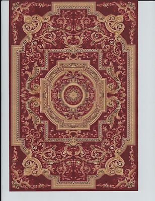 """1:12 Scale Dollhouse Area Rug 0001147 - approximately 7 1/4"""" x 10 1/2"""""""