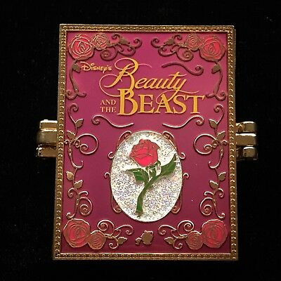LE Beauty and the Beast Belle Timeless Tales Book Enchanted Rose DLR Disney Pin
