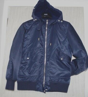 J.Crew Navy Blue Nylon Insulated Hooded Men's Jacket Bomber Size:S
