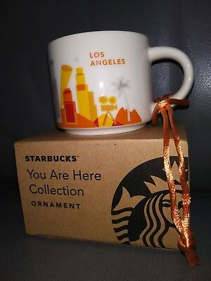 Starbucks Ornament - LOS ANGELES You Are Here - 2 Oz - YAH - New
