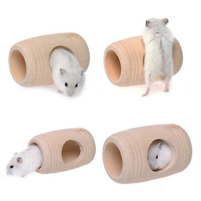 Pet Rat Hamster Wooden Toy Small Animal Wooden Bed House Cage Molar Toy BE