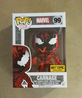Funko POP! Marvel Universe CARNAGE #99 Vinyl Figure Hot Topic Exclusive
