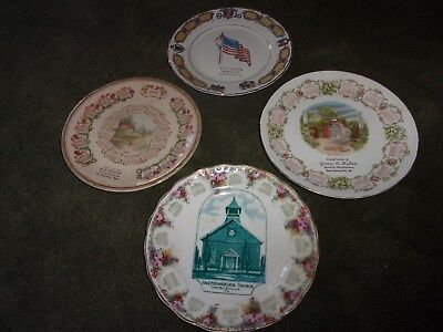 Set 4 Beautiful Calendar Plates 1910, 1911, 1912, 1920 Victory PA. & MASS.