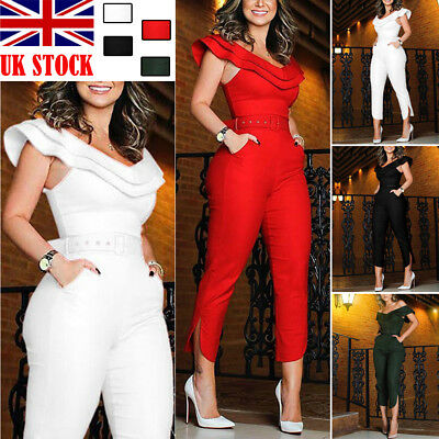 836ba62431fc UK Womens Evening Party Playsuit Ladies Lace Long Jumpsuit Plus Size UK 16  - 24