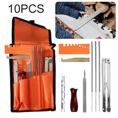 10pcs/Set Chainsaw Chain Saw Sharpening Kit Tool Set Guide Bar File