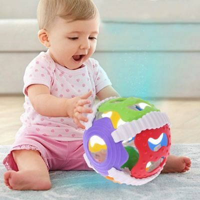Baby Hand Bell Toy Rattles Sway Sound Grasp Ball Finger Activity Educational Toy