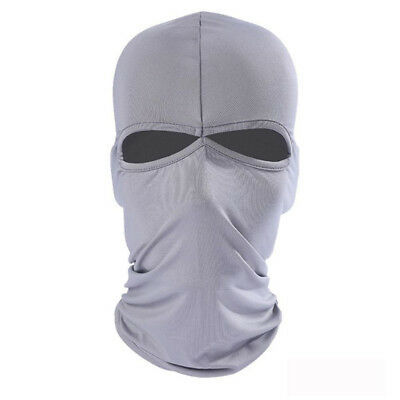 Lycra 2 Hole Ski Mask Balaclava Hat Full Face Shield Beanie Cap Snow Winter Warm