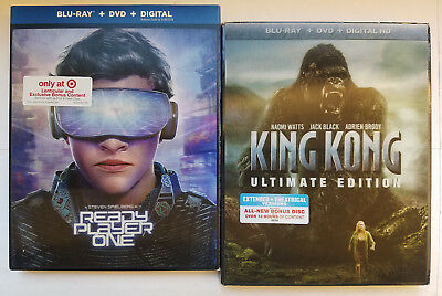 Ready Player One+King Kong UltimateEdition Blu-ray+Lenticular Slip Cover+Digital