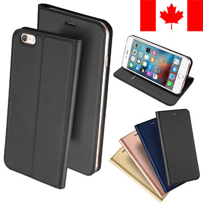 Slim Leather Wallet Card Holder Case For Apple Iphone 7 Plus & Iphone 8 Plus