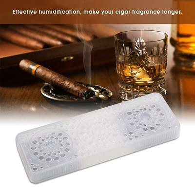 Transparent Rectangle Practical Cigar Herb Humidor Humidifier Accessories Supply