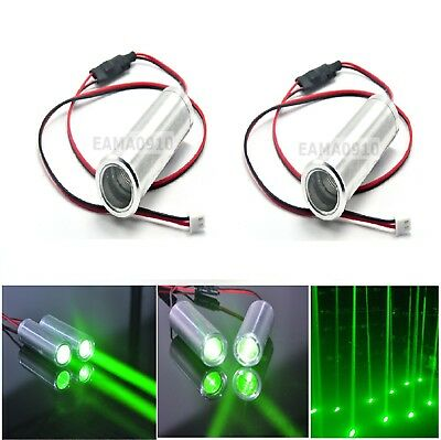 2pcs 3.6-4.2V 532nm 50mW Green Fat Beam Bar Light KTV Laser Module Dot 22x70mm