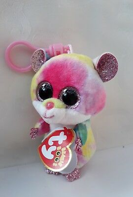 67b3ca29a41 Ty Beanie Boo RODNEY Hamster Keyring Clip Decoration. Original Ty with Tags.