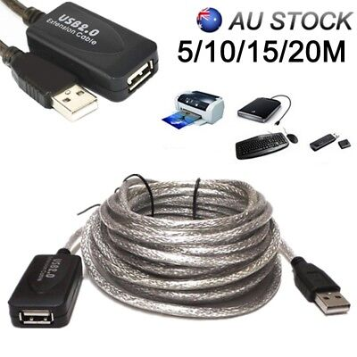 OFC 5M/10M/15M/20M USB Active Repeater Extension Extender Cable Lead USB2.0 AU