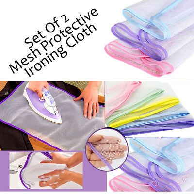 2* Ironing Mesh Protective NET CLOTH Protect Iron Delicate Garments Clothes Chic