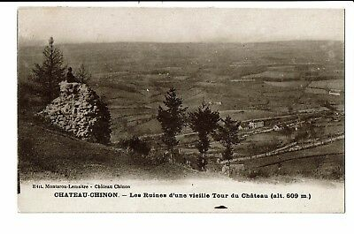 CPA - Carte postale  - FRANCE- Chateau Chinon - Ruine d'une vieille tour