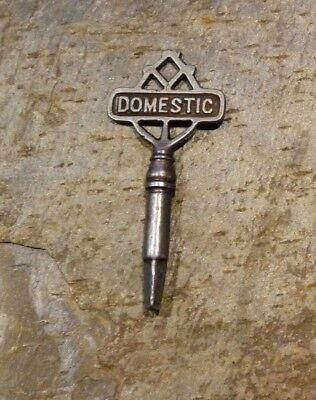 Original Antique  Domestic Treadle Sewing Machine Drawer Key  Square End