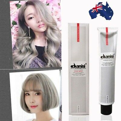 Smoky Gray Hair Color Dye Cream Punk Style Hairstyle Cream For Men