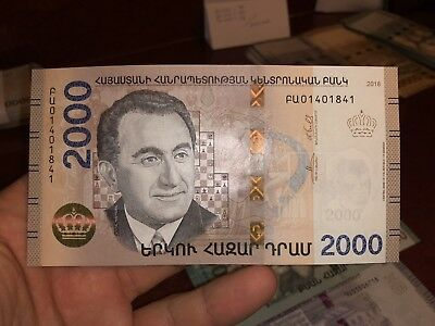 2018 ARMENIA 2000 WHOLESELLER DRAM NEW BANKNOTE armenian drams unc note